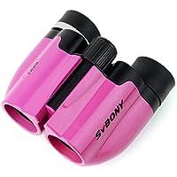 SVBONY 8x21 Prismáticos Niños Ultra Compacto Binoculares de Juguete (Rosa)