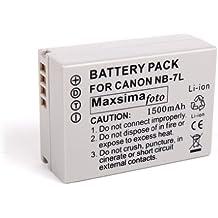 Maxsima - Batteria NB-7L compatibile con Canon Powershot G10, G11, G12, SX30, 1500mAh, NB7L garanzia 12 mesi