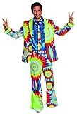Hippie Anzug Hose mit Schlag Herren Kostüm Hippy Karneval