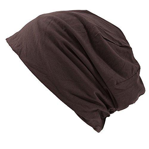 Casualbox Mäner Japanisch Mode elastisch Beanie Hut Sport stricken Braun