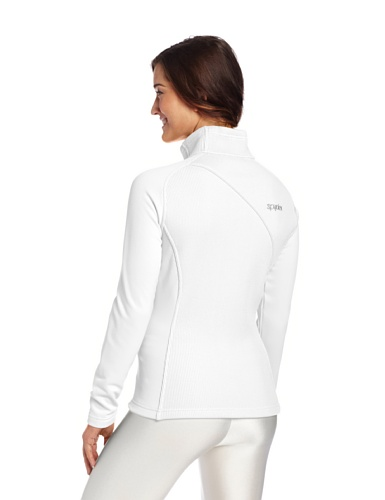 Spyder Damen Essential mid Gewicht Core Sweater White/White/Green Flash