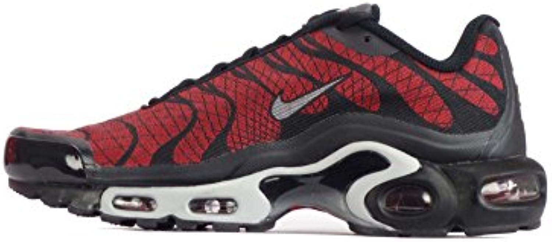 Nike  Air Max Plus Jacquard TN  Herren Sneaker Rot University Red/Wolf Grey Black  Rot   University Red/Wolf Grey Black