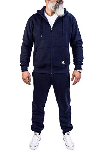 Rock Creek Herren Jogging Anzug Trainingsanzug Sportanzug Jogger Fitnessanzug Sweatshirt Trainingshose Trainingsjacke H-166 Navy XXXXXL -