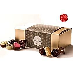 Belgische schokolade – pralinenschachtel mit milch und zartbitterschokolade, trüffel. DuPont Chocolatier – perfekten schokoladen geschenkpackung für geburtstage, Geschäftskunden, gastgeschenk, Weihnachtsgeschenke und Neujahr geschenk
