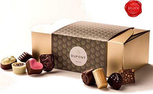 chocolats et truffes belgique, ballotin chocolat assortiment Dupont chocolatier.chocolat fête des mères Chocolat blanc chocolate noir. pralines, ganache cadeau d'anniversaire chocolat bonbo
