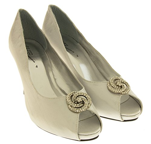 Footwear Studio, Peep-Toe donna Maglia D'argento Lucida