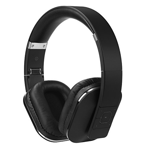 Over Ear Bluetooth Wireless Headphones - August EP650 - Enjoy Bass Rich Sound and Optimum Comfort from this Wireless Over Ear Headset with NFC and aptX LL Low Latency - [Black]