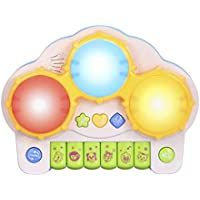 Vkospy Piano Clavier Tambours d apprentissage électronique Toy Fun Jouer  pour Bébé Tout Enfants Jeu ec3067cfe0c8