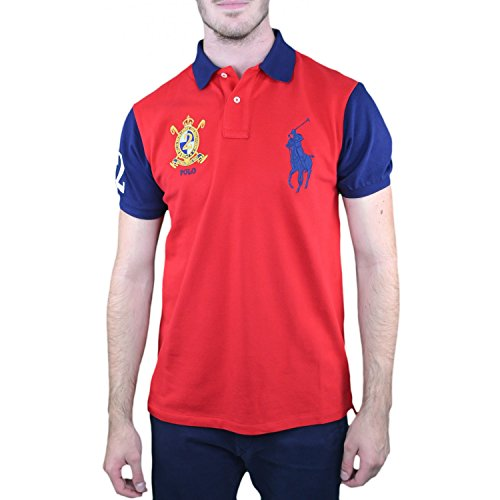 39af70a309c521 Ralph Lauren Polo Big Poney Rouge Pour Homme