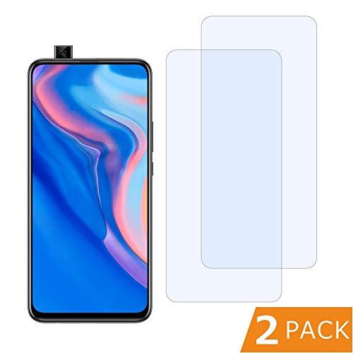 FMPC [2 Stück Panzerglas Schutzfolie für Huawei P smart Z, 9H Härte, Anti-Kratzen, Anti-Öl, Anti-Bläschen HD Displayschutzfolie,Tempered Glas Schutzglas