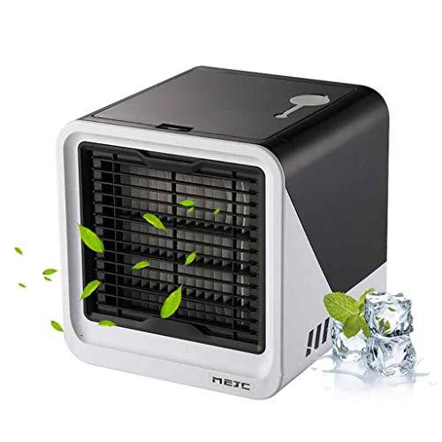 bloatboy Mini Luftkühler Klimaanlage, Mobiler USB Luftkühler für Klimaanlagen, Mute Refrigeration Desktop Kleiner Lüfter Luftkühler für Reisen im Freien zu Hause (Schwarz) (Haus Vent Fans)