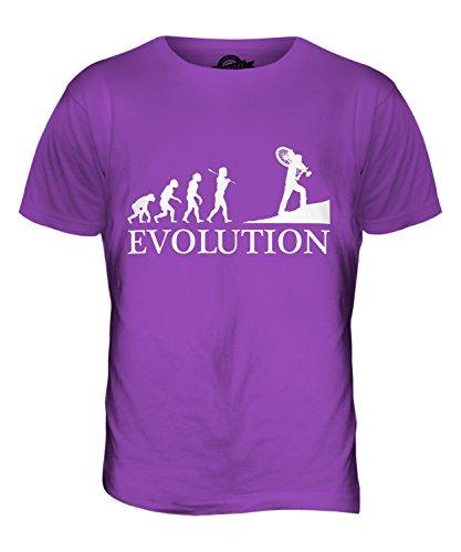 CandyMix Querfeldeinrennen Querfeldein Evolution Des Menschen Herren T Shirt Violett