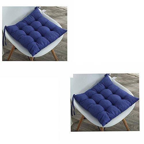 Stuhlauflagen 2er Set Kissen - Sitzkissen Stuhlkissen Auflage Sitzauflage -für Esszimmer / Küche / Büro