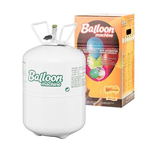 PartyMarty Helium-Ballon-Set: Ballongas Helium Flasche inkl. 50x Ballonband mit Schnell-Verschluss
