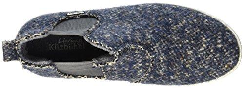 Pantofole Viventi Kitzbühel Uomo Chelsea Boot Tweed Blu (denim 550)