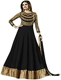 342ba2e962 Shoppingover Floor Length Anarkali Pakistani Salwar Kameez in Black Color