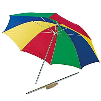 Happy People 2 In 1 Beach Umbrella Multi Color 32 X 32 X