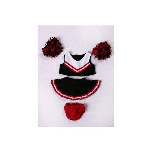 Stuffems Toy Shop Red & Black Cheerleader Outfit Teddybär Kleidung passt die meisten 14