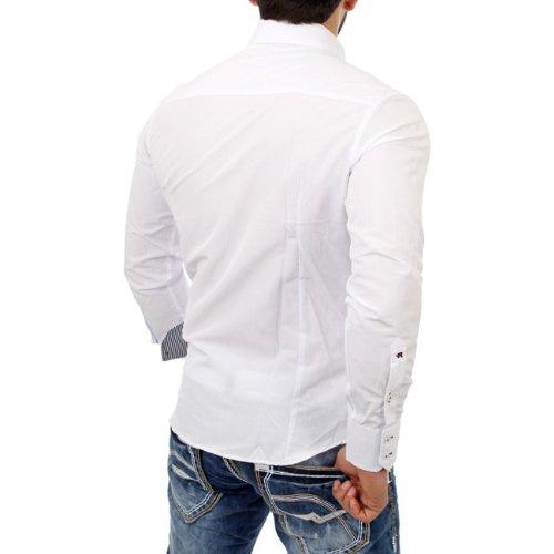Reslad Herren Langarm Hemd Medford RS-7080 Weiß