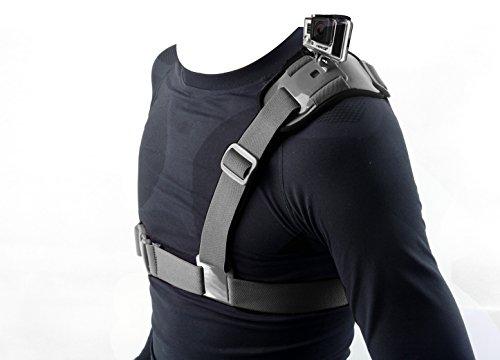 SHOOT Brustgurt Schultergurt Brust Körper Gurt Halterung für GoPro Hero 6 Black Gopro Hero 5 Black Gopro Hero 4/3+/3/2/1 und weiter Aktion Kameras