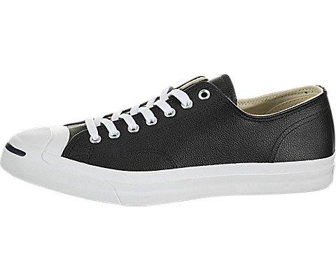Converse Jack Purcell Schwarz / Weiss Leder Low Top Schuhe (1S962) (6UK / 40EU) -