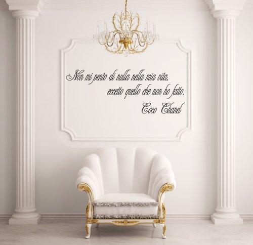 Adesiviamo Coco Chanel M Adesivo Murale, PVC, Nero, 85 x 27 cm