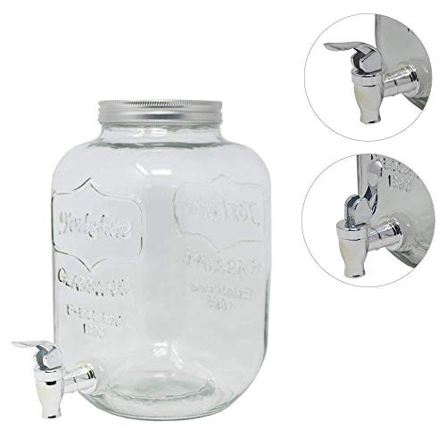 3,5 Liter Getränkespender GLANCE mit Hahn Saftspender Getränke Dispenser Spender (5 Stück) -
