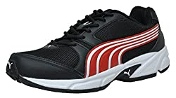Puma Mens Strike II DP Black and High Risk Red Mesh Running Shoes - 6 UK/India (39 EU)