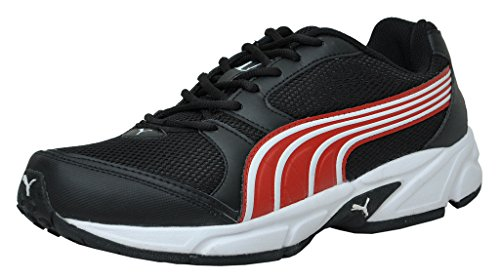 Puma Men's Strike II DP Black and High Risk Red Mesh Running Shoes - 6 UK/India (39 EU)
