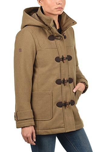 DESIRES Penna Damen Winter Jacke Parka Mantel Dufflecoat mit Stehkragen und Kapuze, Größe:S, Farbe:Sepia (5075) - 2