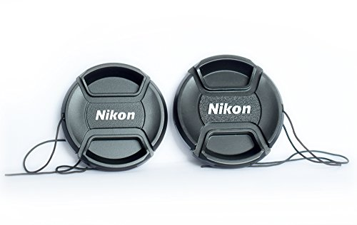 Nikon replacement lens cap for nikon af-p 18-55 & 70-300mm lenses (set of 2 lens cap with thread)