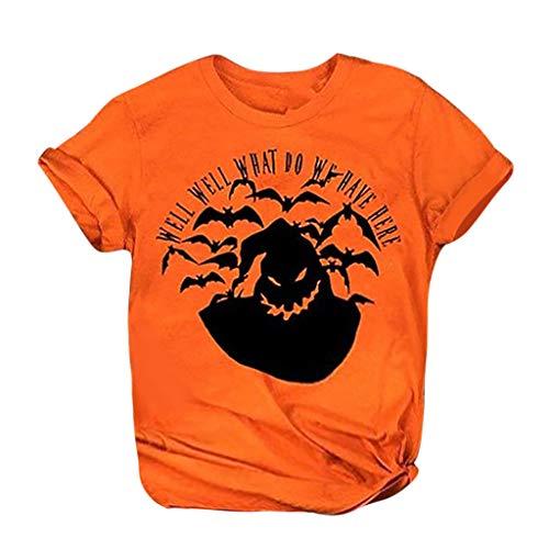 LILIHOT Frauen Beiläufige Buchstabe Druck T-Shirt Kurze