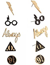 Harry Potter aretes de 5 par joyería de la aleación de zinc