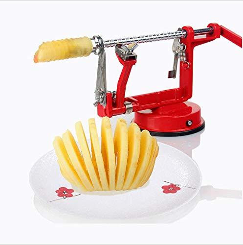 L@CR-kitchen 3 in 1 Apple Slinky Maschine Peeler Corer Obst Cutter Slicer Nützliche Küchenwerkzeug -