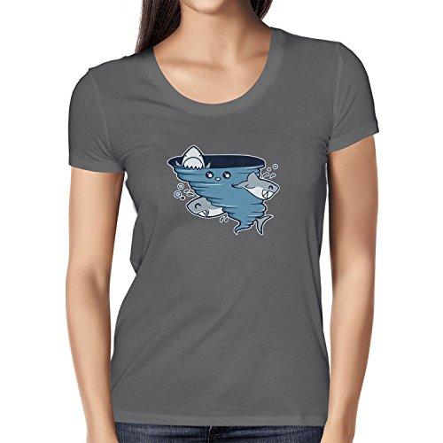 Texlab Cute Shark Tornado - Damen T-Shirt, Größe L, ()