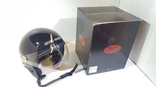 Preisvergleich Produktbild Helm Moto Guzzi Jet V7 schwarz Größe XL C / Visier und Beschichtung hypoallergen,  Armband mit Schnellspanner