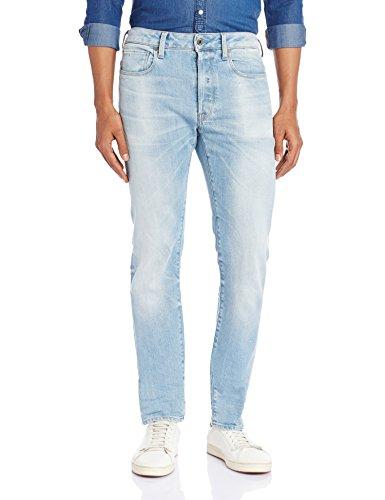 G-STAR Herren Slim Jeanshosehose 3301, Gr. W30/L32, Blau (lt aged 424) (Fade Denim Bekleidung)
