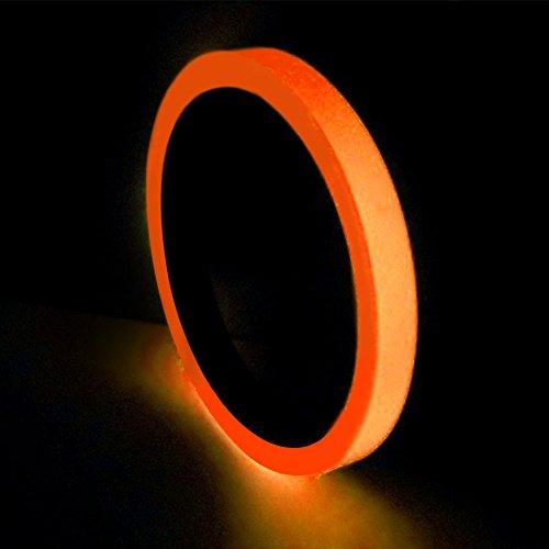 lebeband, Stage Warnung, abnehmbaren PVC Glow in the Dark Stage Warnung Klebeband, fluoreszierendes Licht Aufbewahrung Deko Klebeband, orange ()