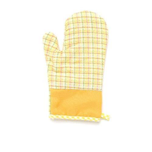 FORHOME 2 stücke Grill Topflappen Grill Hausmannskost Isolierung Ofen Baumwolle Handschuh Backformen Hitzebeständige BBQ Mitt Küche Backhandschuh, gelb