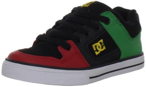 DC Shoes - PURE KIDS - BDWD - D0301069B/1, Jungen Sportschuhe - Skateboarding, Schwarz (BLACK/RASTA BRSD), EU 38 (US 6.5) (Schuhe Pure Dc Jungen)