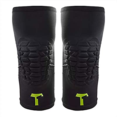 T1TAN Knee Guard Knieschützer mit Kompression - Torwart Anti-Rutsch Knieschoner - Knie Protektor schwarz Gr. XXS - XL