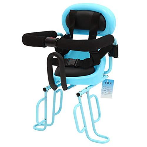 NBRTT Fahrradsitz für Kinder, hinterer Fahrradträger Vorderer Montagesitz für Babys und Babys sicher mit Handlauf, 3-Punkt-Gurt und gepolsterte Querstange für
