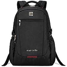 evay Slim Business 17inch Laptop Mochila Impermeable y resistente. Bolsa de viaje mochila para hombres y mujeres de hasta 17,3pulgadas portátil mochila mochila negro