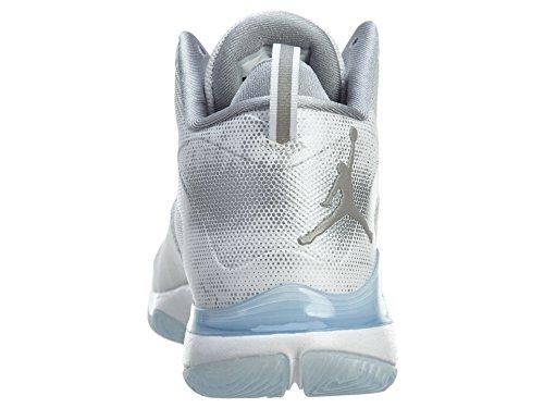 nike air jordan super.fly 3 scarpe sportive da basket alte da uomo 743665 scarpe da tennis Colore: Bianco Riflette Argento Grigio Lupo