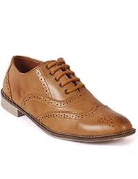 Albertiano Plano Men Brogue Shoe (Tan Color)