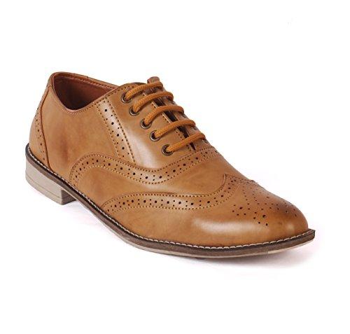 Albertiano Plano Men Brogue Shoe (Tan Color) (7)