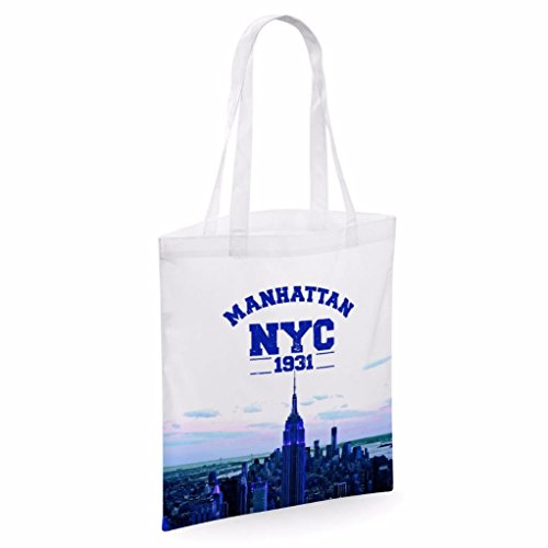 Tote bag pour femme Manhattan NYC imprimé sac épaule sacs en toile