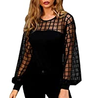 FRAUIT dames lange mouwen kant shirt doorzichtig hol casual blouse zomer herfst vrouwen meisjes losse gestreepte T-shirts sexy mode elegant prachtig streetwear
