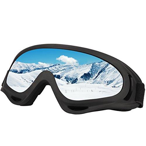Skibrillen, Nexlook Snowboardbrillen für Kinder, Jungen, Mädchen, Jugendliche, Herren, Damen, mit UV-Schutz, Winddicht, Blendfrei
