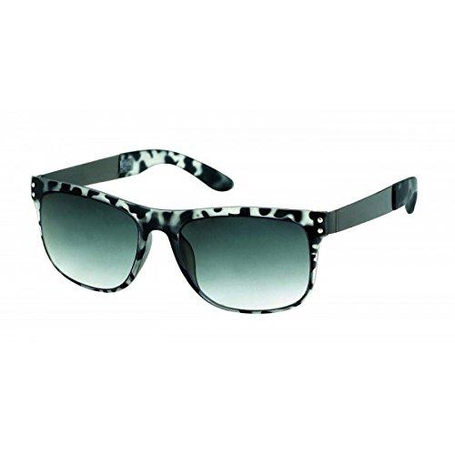 Hochwertige Sonnenbrille Animal Print 400 UV Nerd Punkte Metallbügel Vintage getönt lila